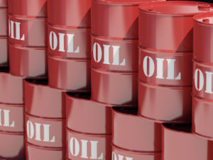 A stack of red oil drums. Very high resolution 3D render.